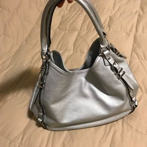 Silver faux leather Purse